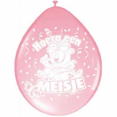 X ballonnen geboorte meisje baby thema speelgoed
