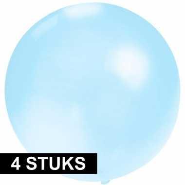 X ronde ballon baby blauw helium of lucht speelgoed