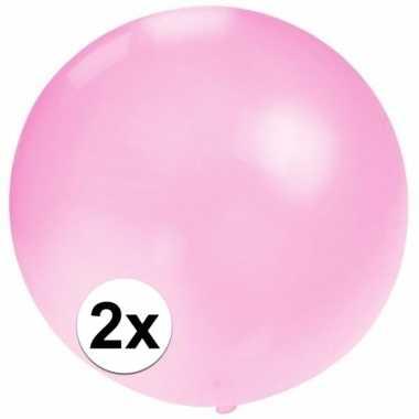 X stuks grote ballonnen baby roze speelgoed