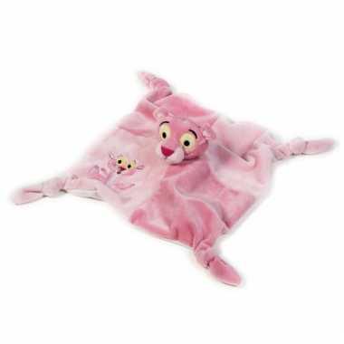 Zacht baby knuffeldoekje pink panter speelgoed