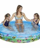Baby blauw bloemen opblaasbaar zwembad speelgoed 10215415