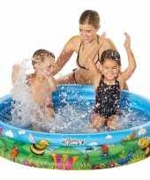 Baby blauw bloemen opblaasbaar zwembad speelgoed