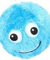 Baby blauwe pluche bal gezicht speelgoed