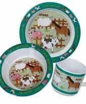 Baby boerderij thema ontbijtsetjes speelgoed