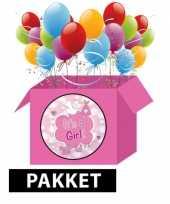 Baby compleet geboorte feestpakket meisje speelgoed