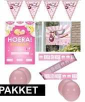 Baby geboorte feestartikelen girl pakket speelgoed