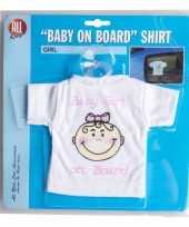 Baby on board t-shirt zuignap meisje speelgoed