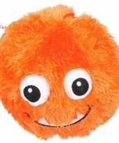 Baby oranje pluche bal gezicht speelgoed