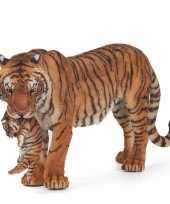 Baby plastic tijgerin welpje speelgoed