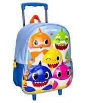 Baby shark trolley reiskoffer rugtas kinderen speelgoed