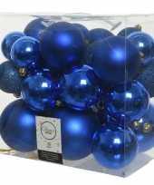 Baby x stuks kobalt blauwe kerstballen kunststof speelgoed