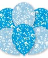 Babyshower ballonnen blauw stuks speelgoed
