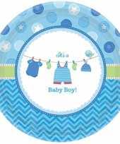 Geboorte jongen bordjes baby boy speelgoed