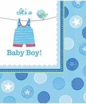Geboorte jongen servetten baby boy speelgoed