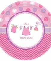 Geboorte meisje bordjes baby girl speelgoed