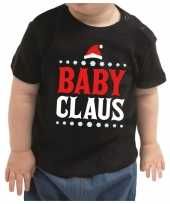 Kerstshirt baby claus zwart baby jongen meisje speelgoed
