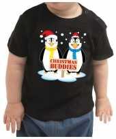 Kerstshirt christmas buddies zwart baby jongen meisje speelgoed