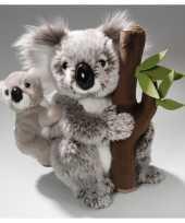 Knuffel koala baby boomstam speelgoed