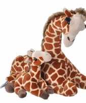 Pluche gevlekte giraffe baby knuffel speelgoed