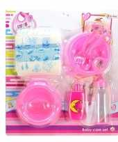 Poppen baby accessoires set speelgoed